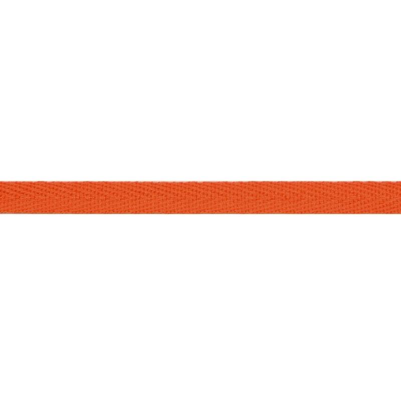 Тесьма киперная хлопок 1см 68-70м/рулон,цв:ярко-оранжевый