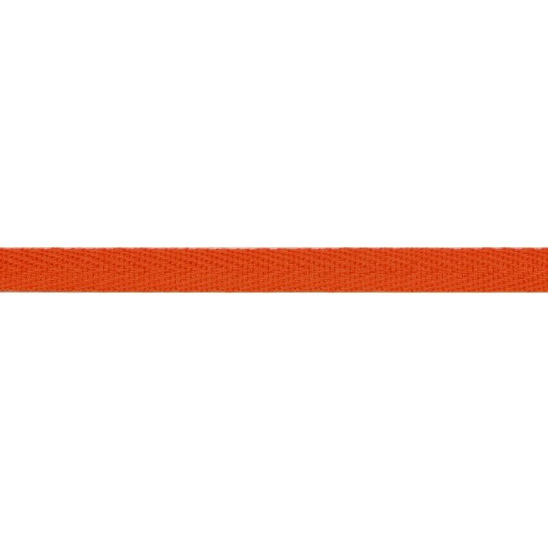 Тесьма киперная хлопок 1см 68-70м/рулон,цв:морковный
