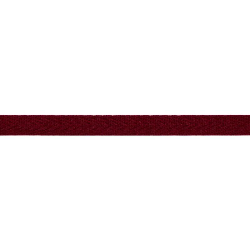 Тесьма киперная хлопок 1см 68-70м/рулон,цв:бордовый