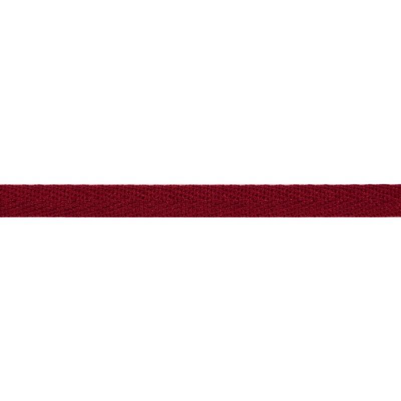 Тесьма киперная хлопок 1см 68-70м/рулон,цв:т.красный