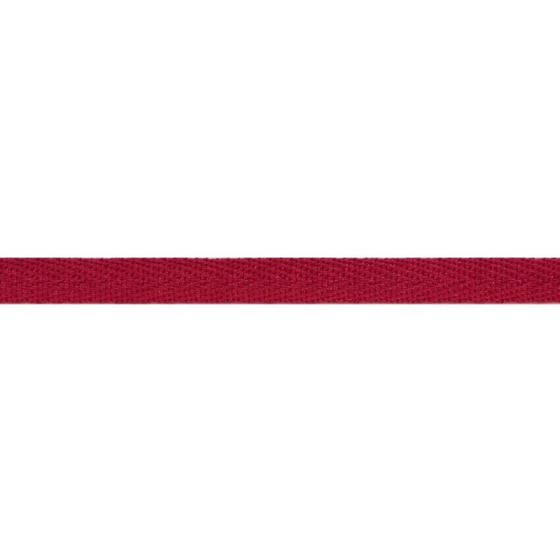 Тесьма киперная хлопок 1см 68-70м/рулон,цв:малиновый