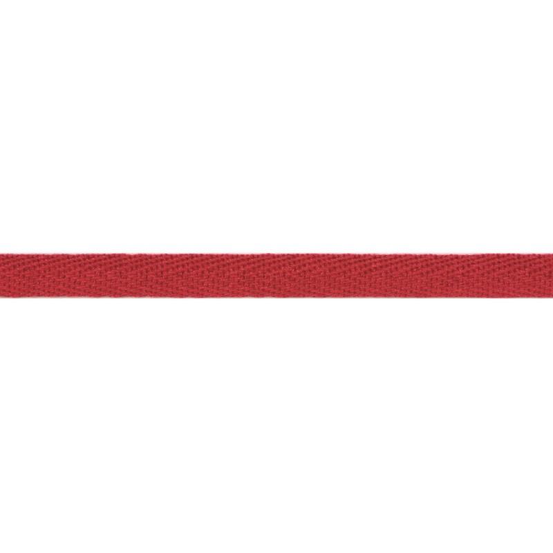 Тесьма киперная хлопок 1см 68-70м/рулон,цв:земляничный