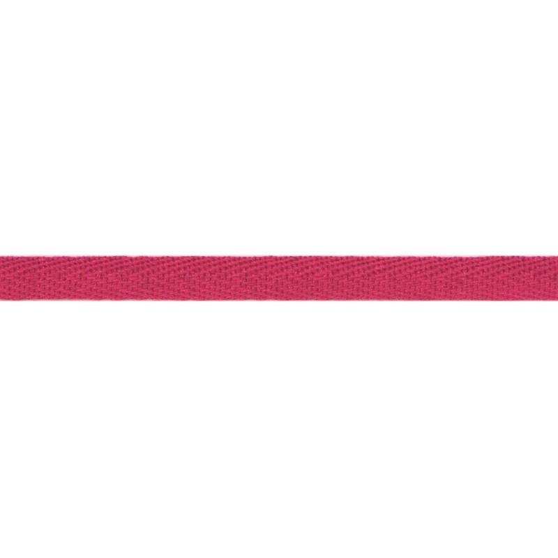 Тесьма киперная хлопок 1см 68-70м/рулон,цв:розово-земляничный