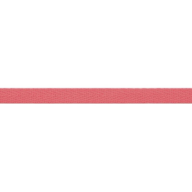 Тесьма киперная хлопок 1см 68-70м/рулон,цв:розовый антик