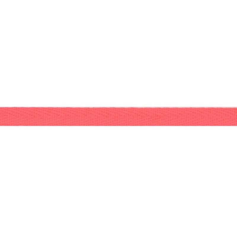Тесьма киперная хлопок 1см 68-70м/рулон,цв:розовый неон