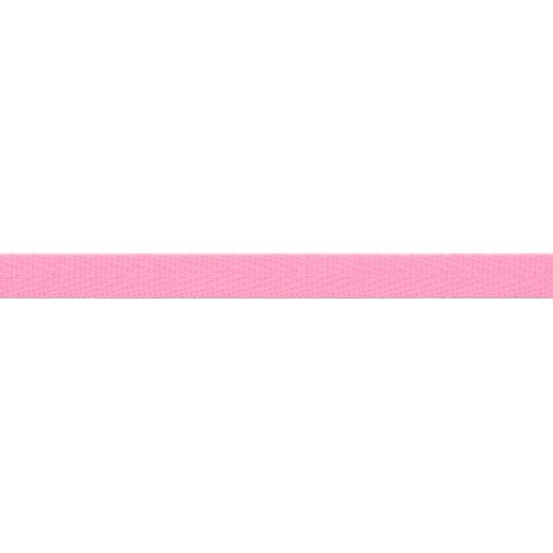 Тесьма киперная хлопок 1см 68-70м/рулон,цв:св.розовый