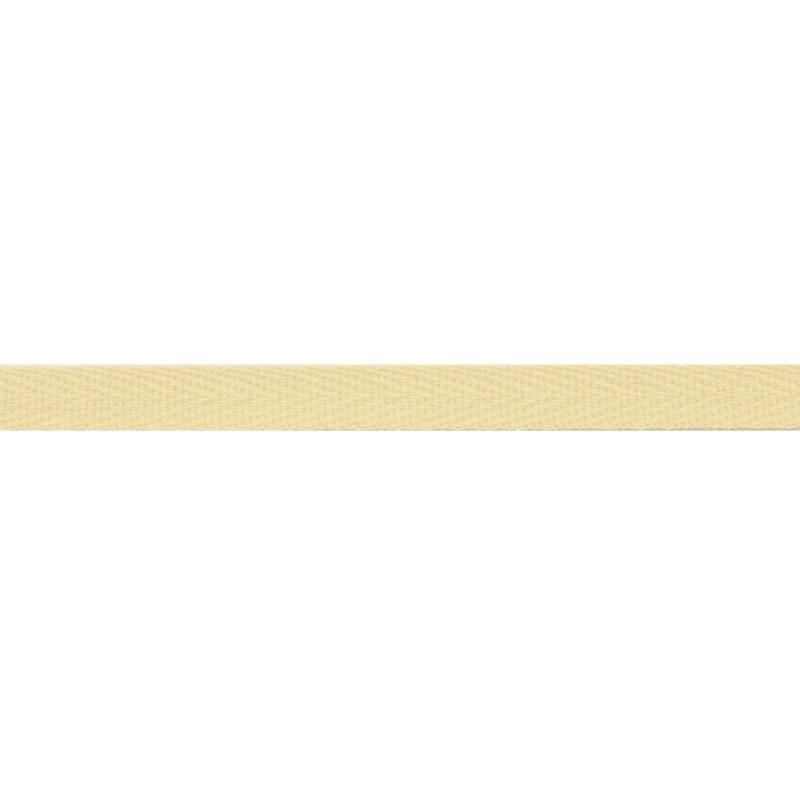 Тесьма киперная хлопок 1см 68-70м/рулон,цв:лимонный лед