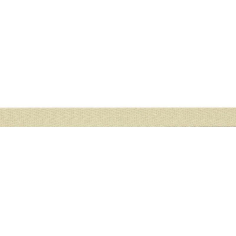 Тесьма киперная хлопок 1см 68-70м/рулон,цв:пепельно-белый