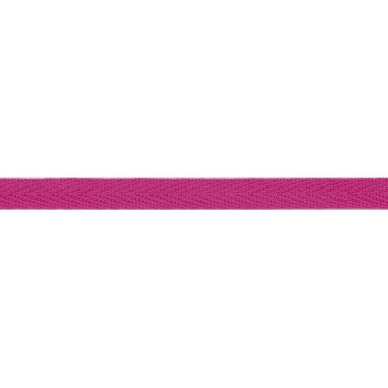 Тесьма киперная хлопок 1см 68-70м/рулон,цв:пурпурный