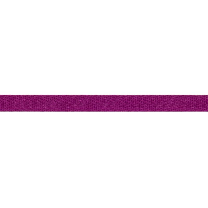 Тесьма киперная хлопок 1см 68-70м/рулон,цв:розовато-лиловый
