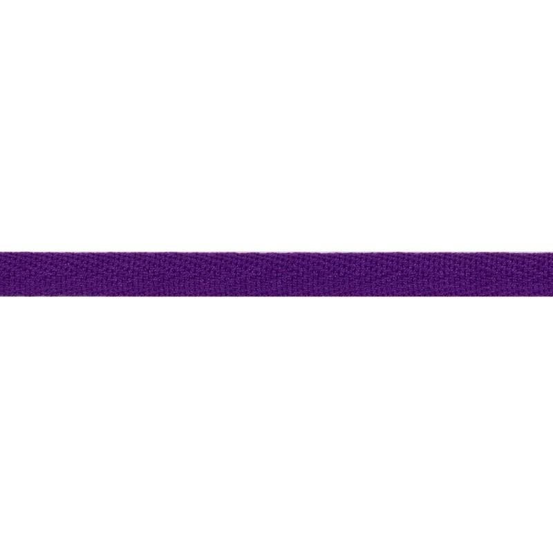 Тесьма киперная хлопок 1см 68-70м/рулон,цв:фиолетовый