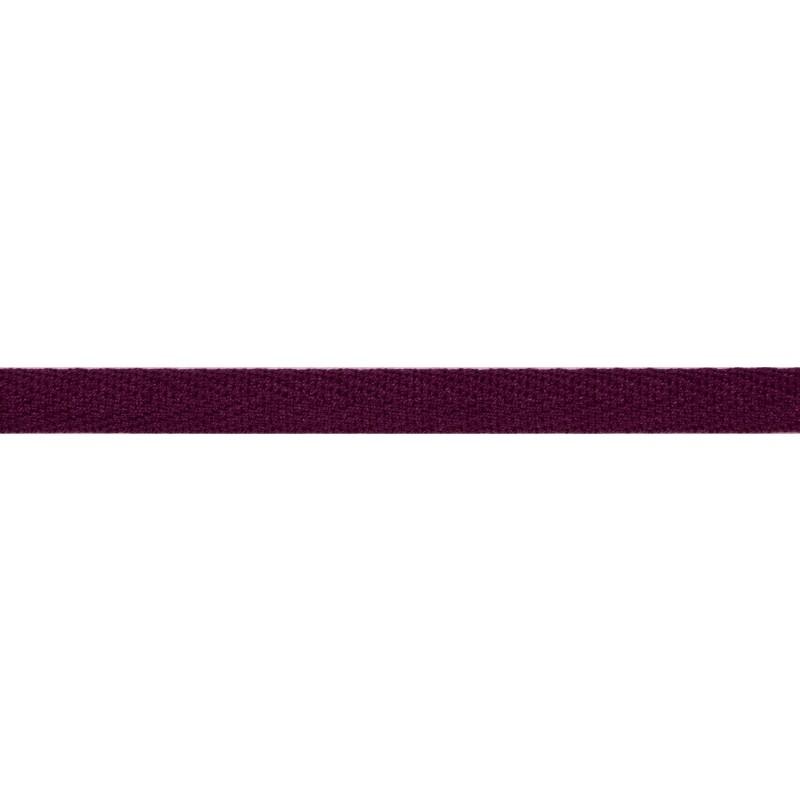 Тесьма киперная хлопок 1см 68-70м/рулон,цв:баклажановый