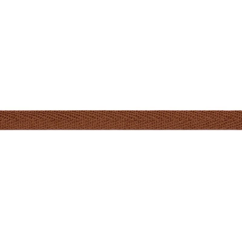 Тесьма киперная хлопок 1см 68-70м/рулон,цв:коричневая глина