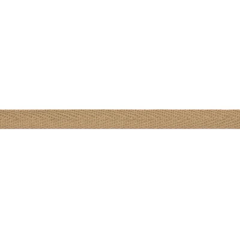 Тесьма киперная хлопок 1см 68-70м/рулон,цв:крем брюле
