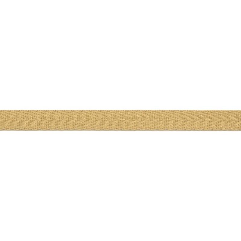 Тесьма киперная хлопок 1см 68-70м/рулон,цв:св.бежевый