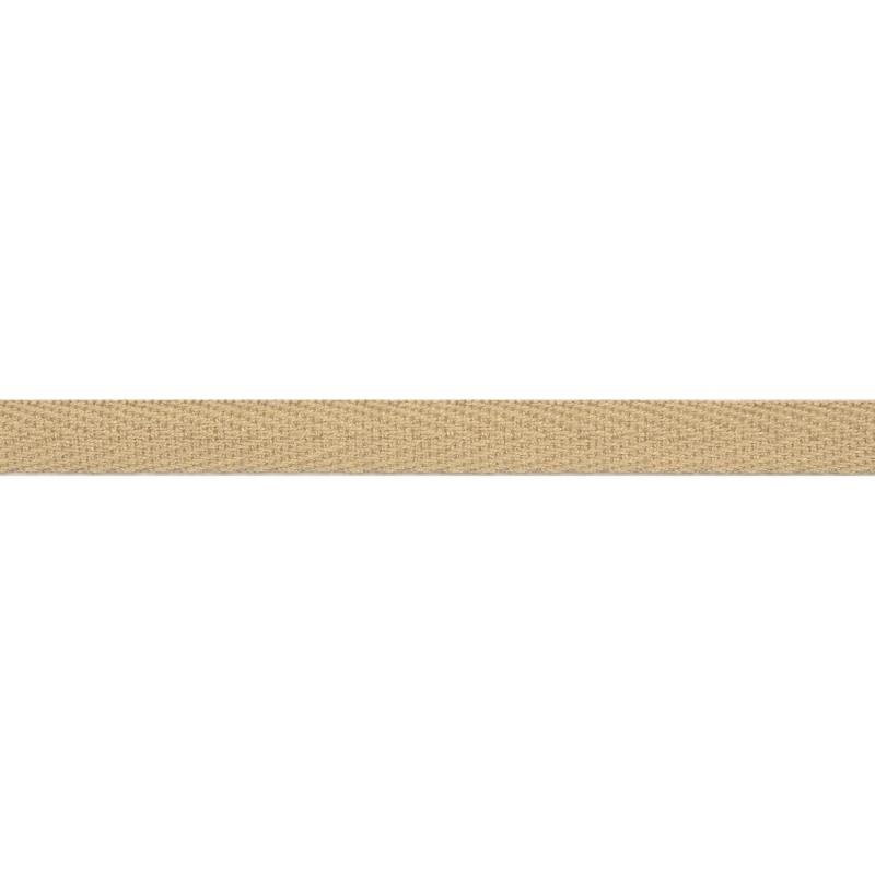 Тесьма киперная хлопок 1см 68-70м/рулон,цв:теплый бежевый