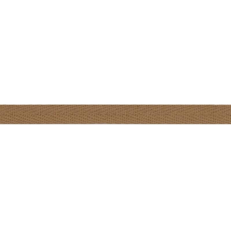 Тесьма киперная хлопок 1см 68-70м/рулон,цв:какао