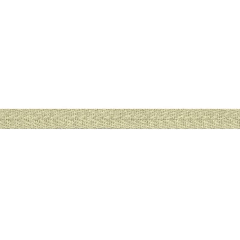 Тесьма киперная хлопок 1см 68-70м/рулон,цв:серо-бежевый