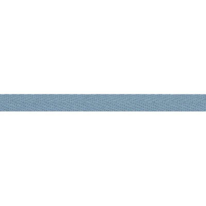 Тесьма киперная хлопок 1см 68-70м/рулон,цв:серо-голубой