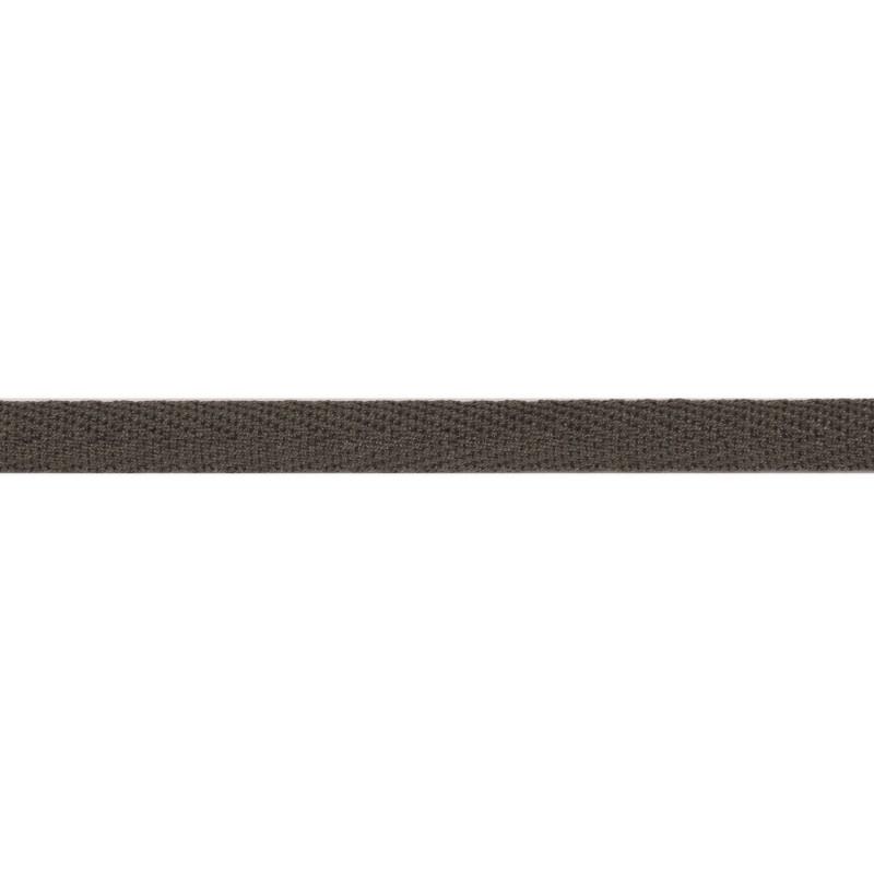 Тесьма киперная хлопок 1см 68-70м/рулон,цв:серый