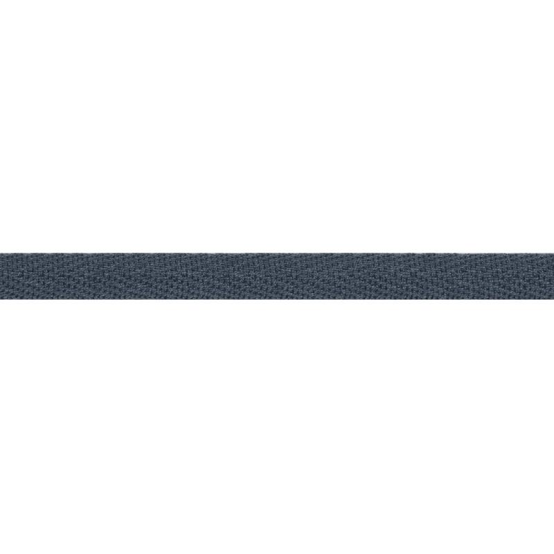 Тесьма киперная хлопок 1см 68-70м/рулон,цв:сизый