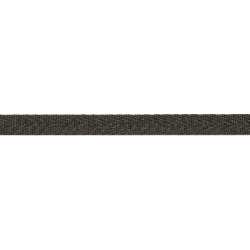 Тесьма киперная хлопок 1см 68-70м/рулон,цв:антрацит