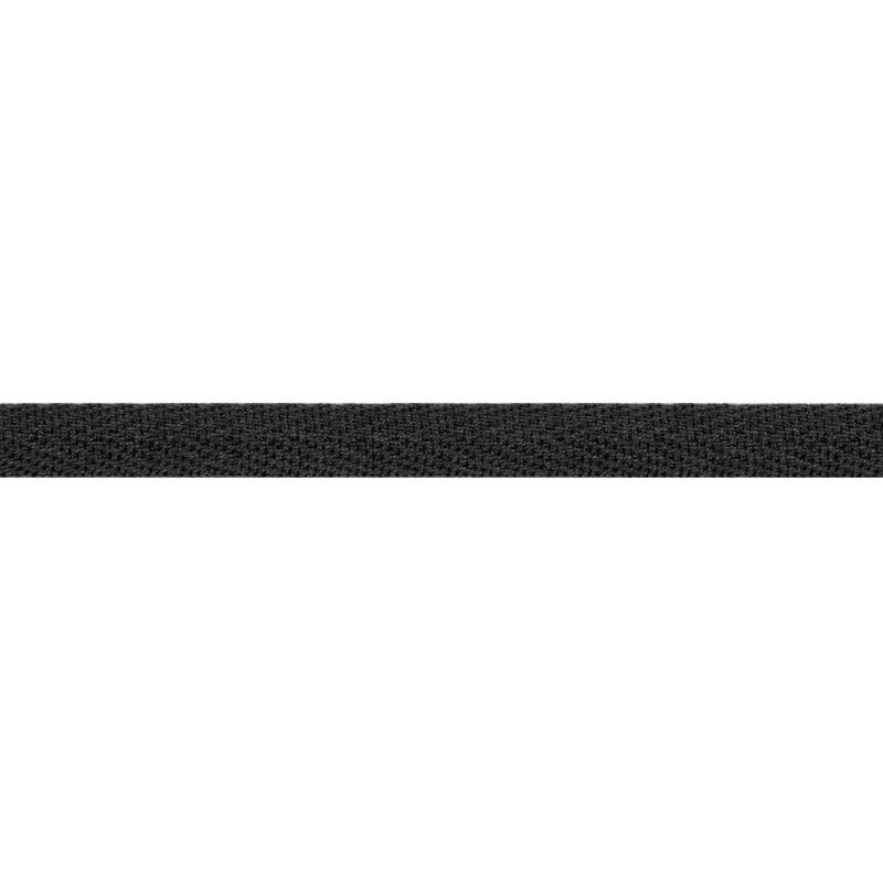 Тесьма киперная хлопок 1см 68-70м/рулон,цв:графит