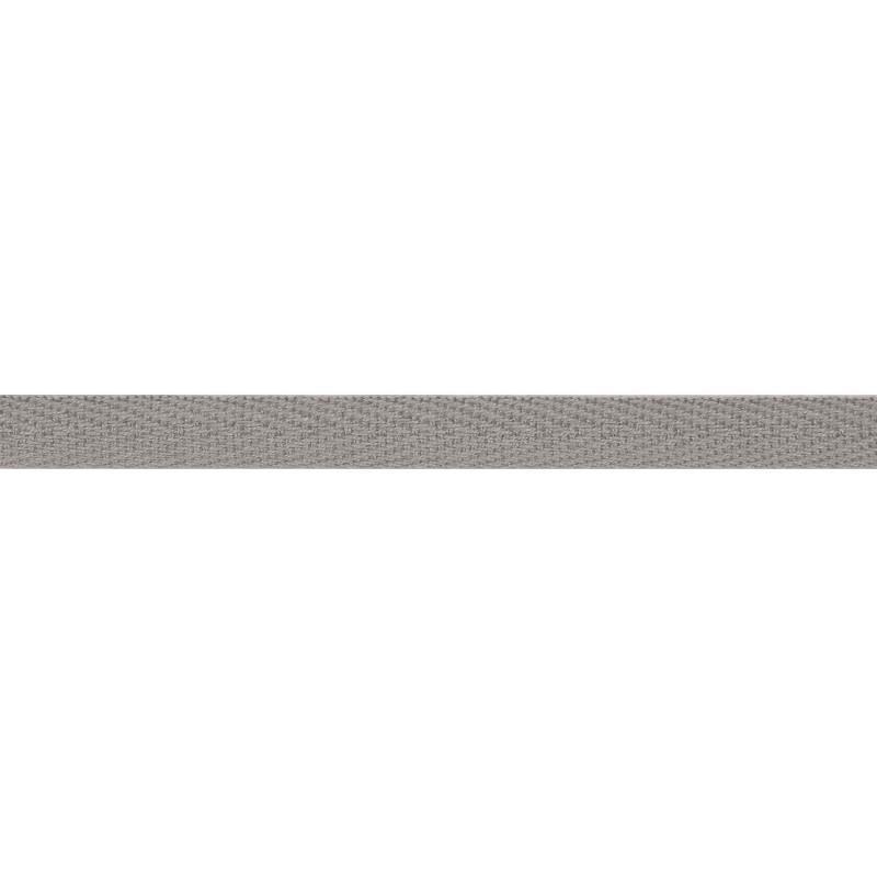 Тесьма киперная хлопок 1см 68-70м/рулон,цв:св.серый