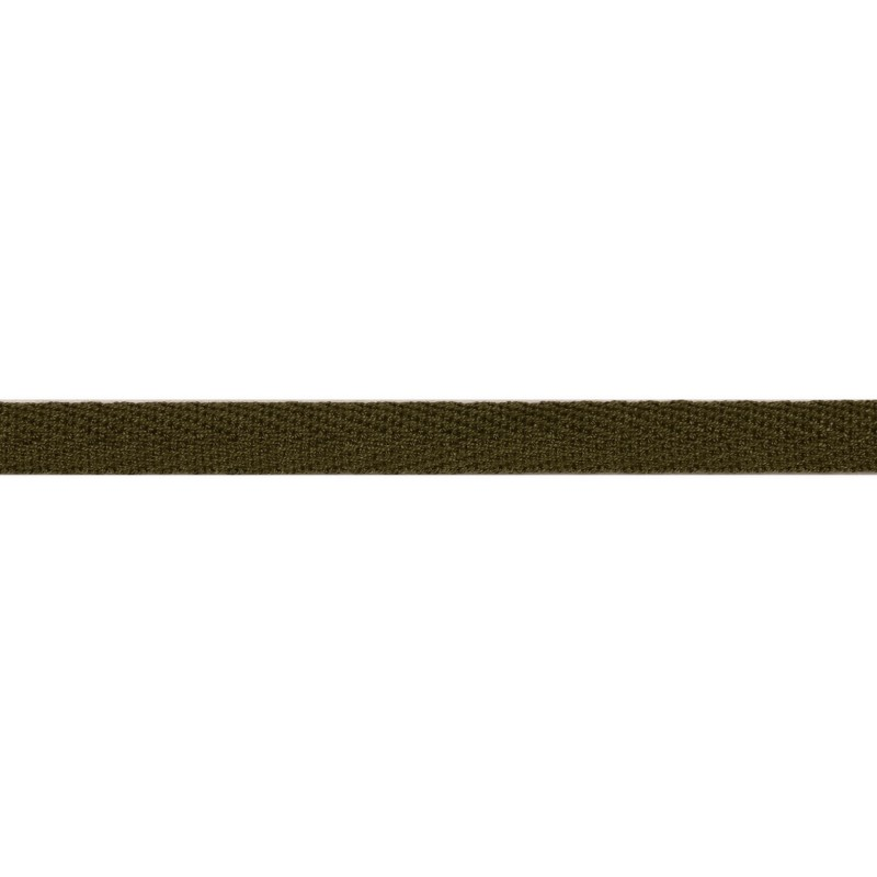 Тесьма киперная хлопок 1см 68-70м/рулон,цв:серый хаки