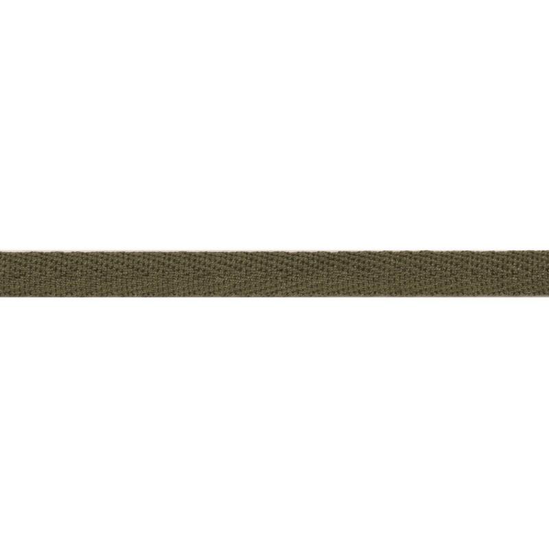 Тесьма киперная хлопок 1см 68-70м/рулон,цв:бежево-серый