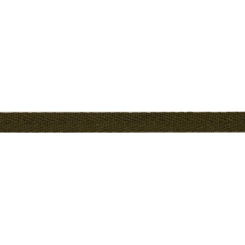 Тесьма киперная хлопок 1см 68-70м/рулон,цв:болотный хаки