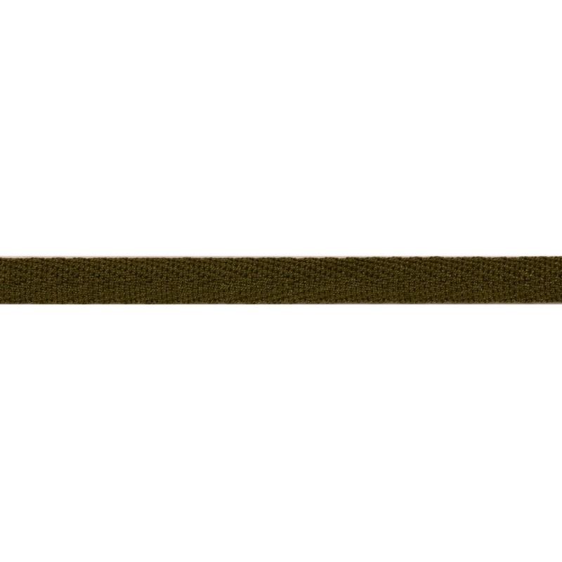 Тесьма киперная хлопок 1см 68-70м/рулон,цв:т.хаки