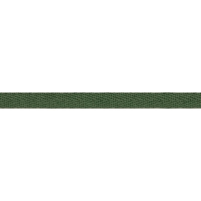 Тесьма киперная хлопок 1см 68-70м/рулон,цв:т.полынь