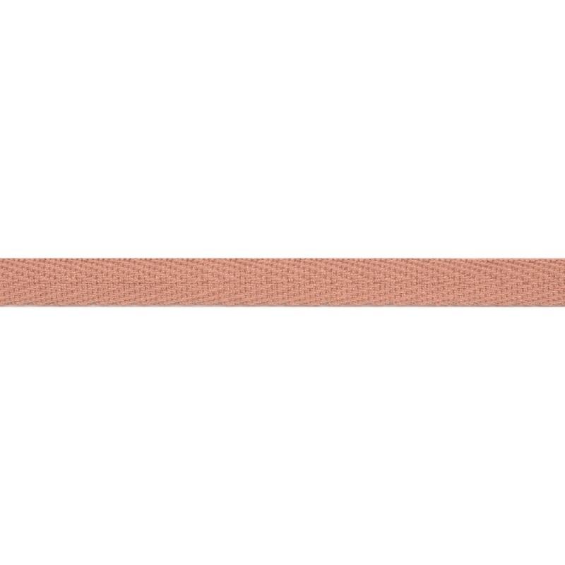 Тесьма киперная хлопок 1см 68-70м/рулон,цв:т.пудра