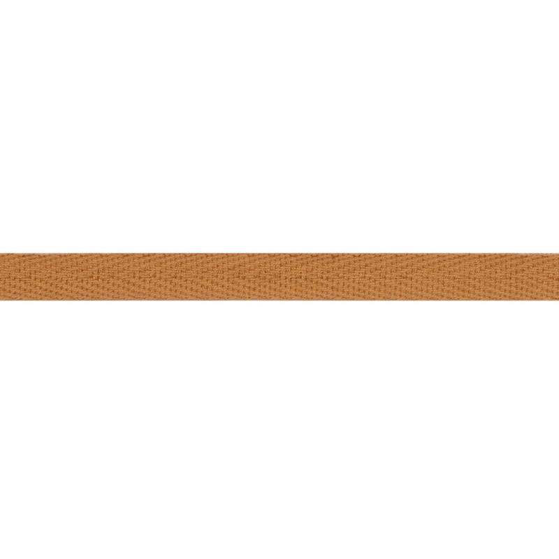 Тесьма киперная хлопок 1см 68-70м/рулон,цв:карамель