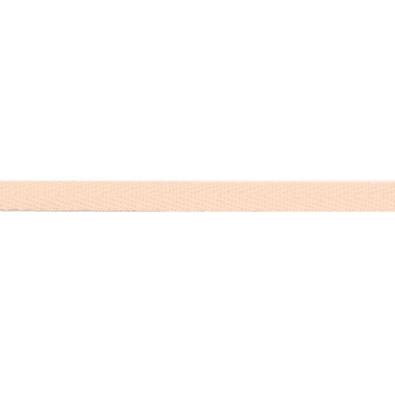 Тесьма киперная хлопок 1см 68-70м/рулон,цв:кремовый