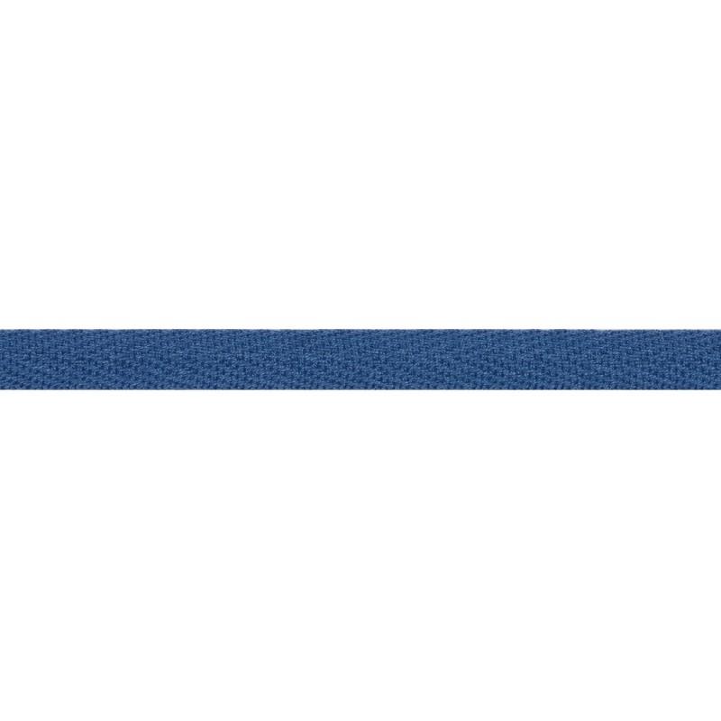 Тесьма киперная хлопок 1см 68-70м/рулон,цв:джинсовый