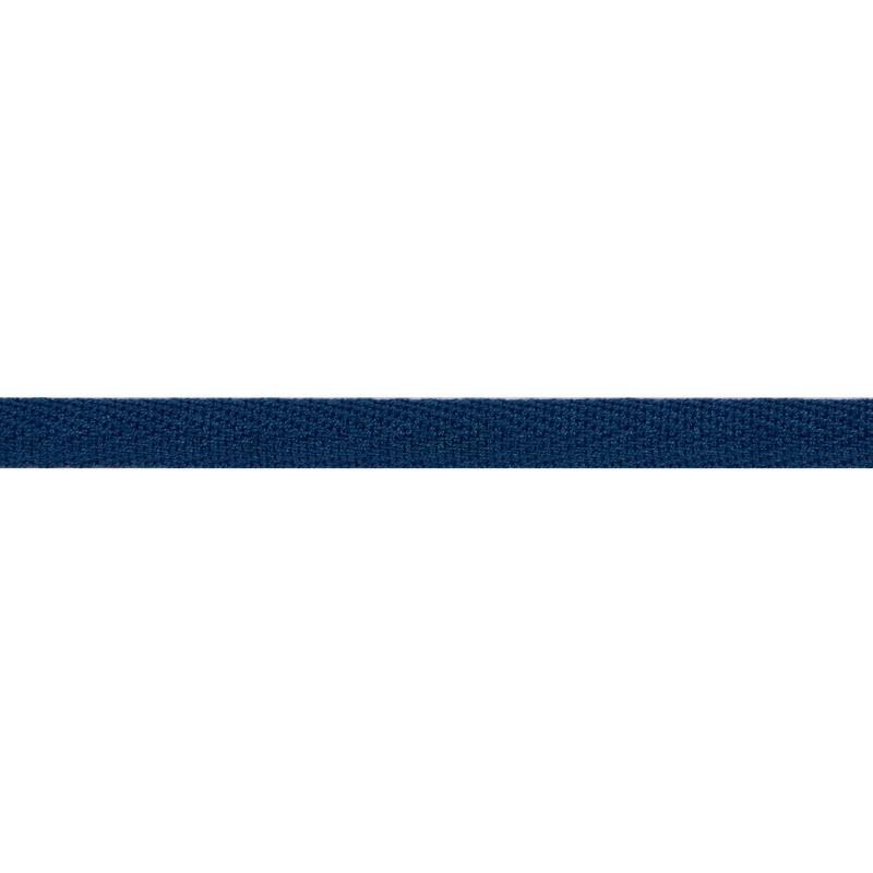 Тесьма киперная хлопок 1см 68-70м/рулон,цв:лазурный-синий