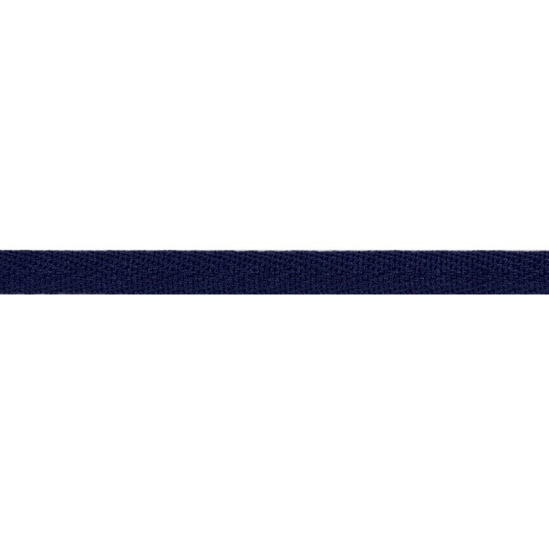 Тесьма киперная хлопок 1см 68-70м/рулон,цв:т.синий