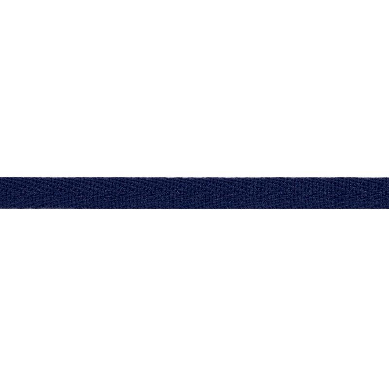 Тесьма киперная хлопок 1см 68-70м/рулон,цв:берлинская лазурь