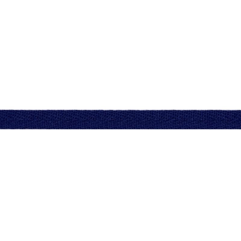 Тесьма киперная хлопок 1см 68-70м/рулон,цв:синий