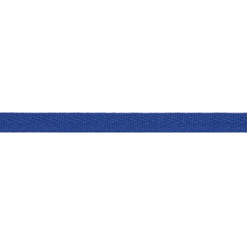 Тесьма киперная хлопок 1см 68-70м/рулон,цв:т.голубой