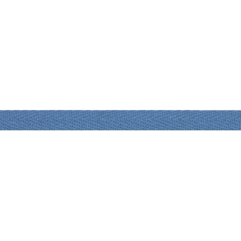 Тесьма киперная хлопок 1см 68-70м/рулон,цв:небесный