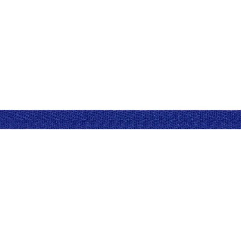 Тесьма киперная хлопок 1см 68-70м/рулон,цв:ярко-синий