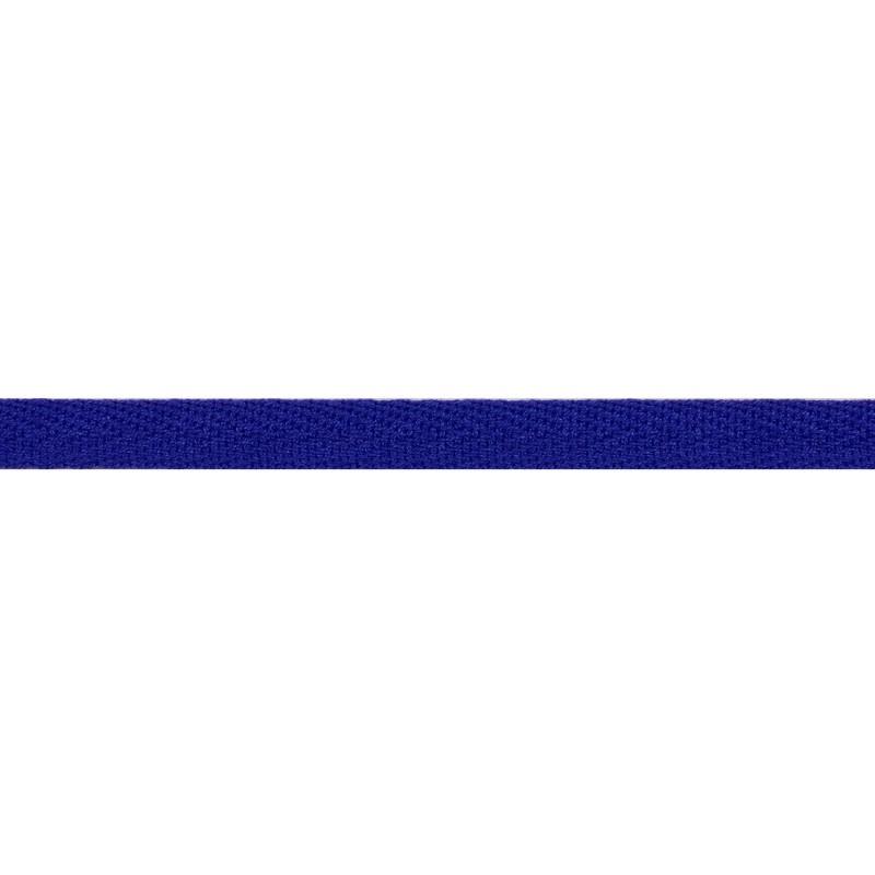 Тесьма киперная хлопок 1см 68-70м/рулон,цв:сапфировый