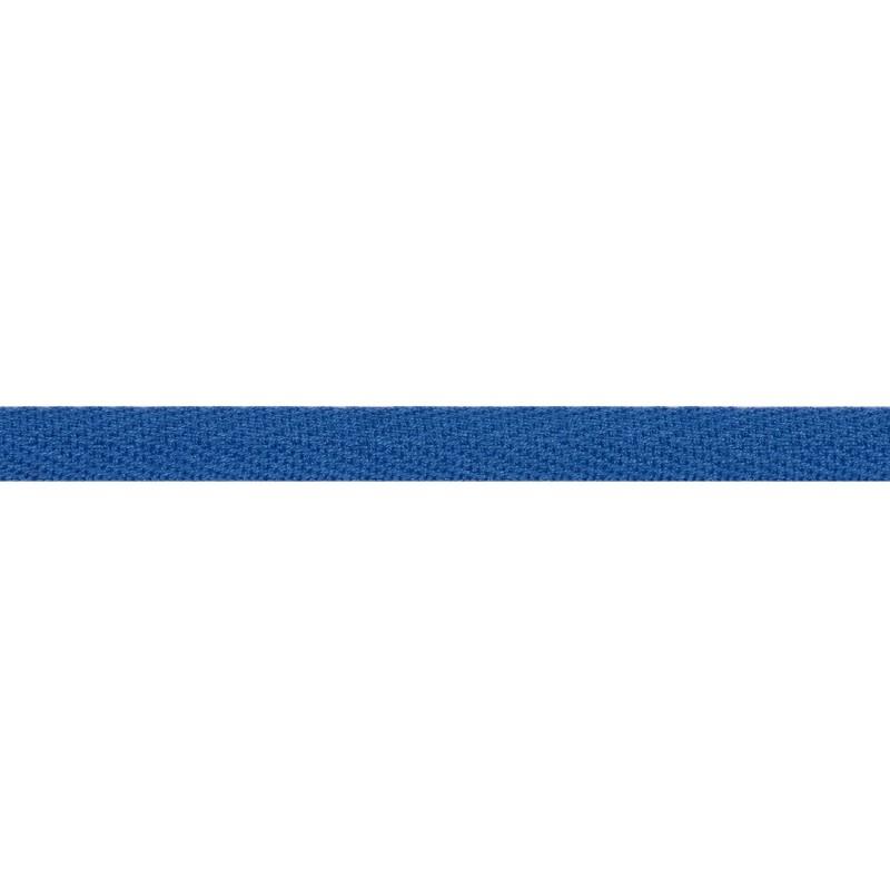 Тесьма киперная хлопок 1см 68-70м/рулон,цв:лазурный