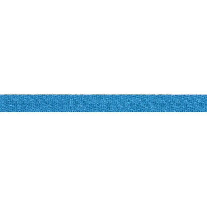 Тесьма киперная хлопок 1см 68-70м/рулон,цв:бирюзово-голубой