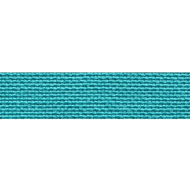 Тесьма стропа поликоттон/сутаж 1,5см 42-45м/рулон,цв:бирюзовый