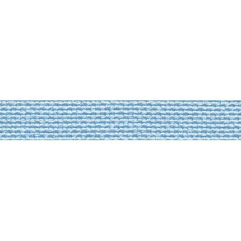 Тесьма стропа поликоттон/сутаж 1см 42-45м/рулон,цв:голубой