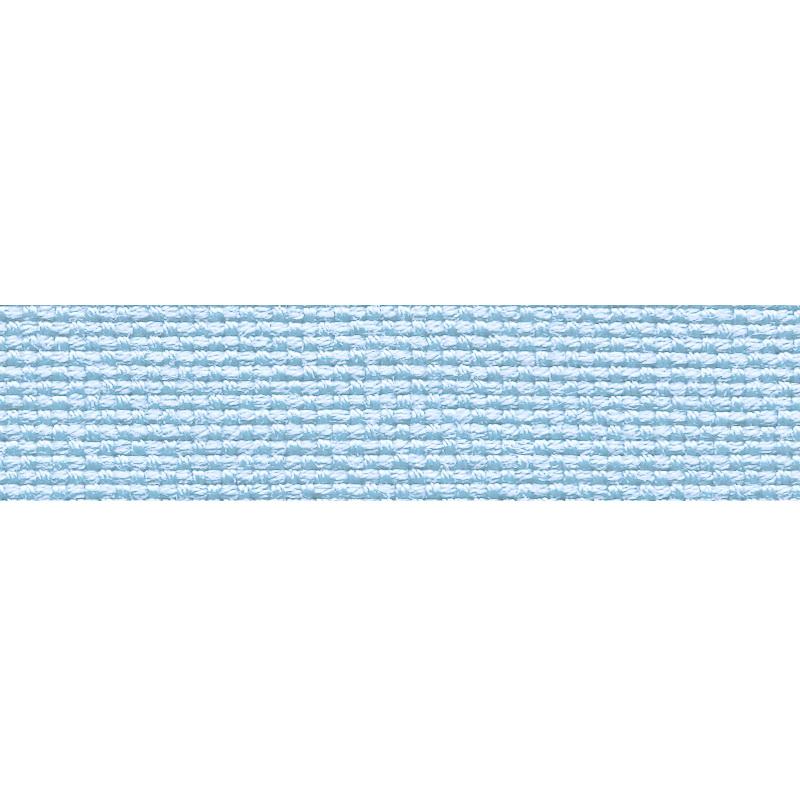 Тесьма стропа поликоттон/сутаж 1,5см 42-45м/рулон,цв:голубой